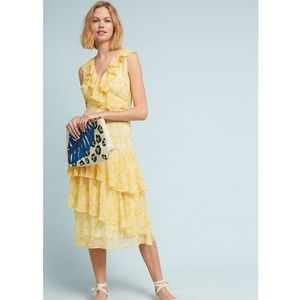 Anthropologie Sunny Days Ruffled Dress